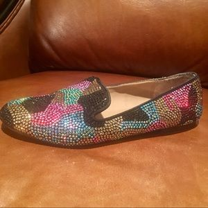 Steve Madden Women's Sparkly Beaded Multi Flats